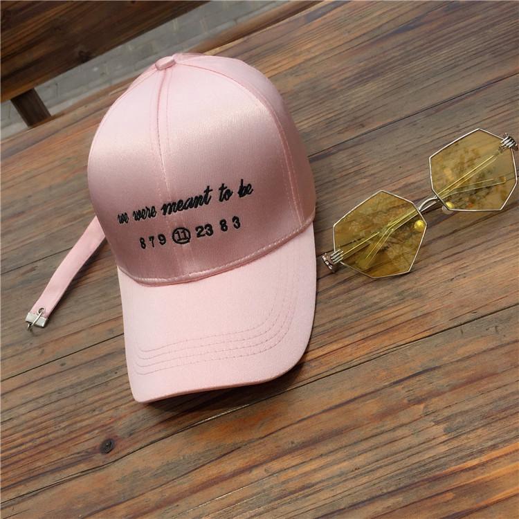 Kepribadian pria dan wanita Hoop musim panas topi bisbol topi topi (Merah muda)