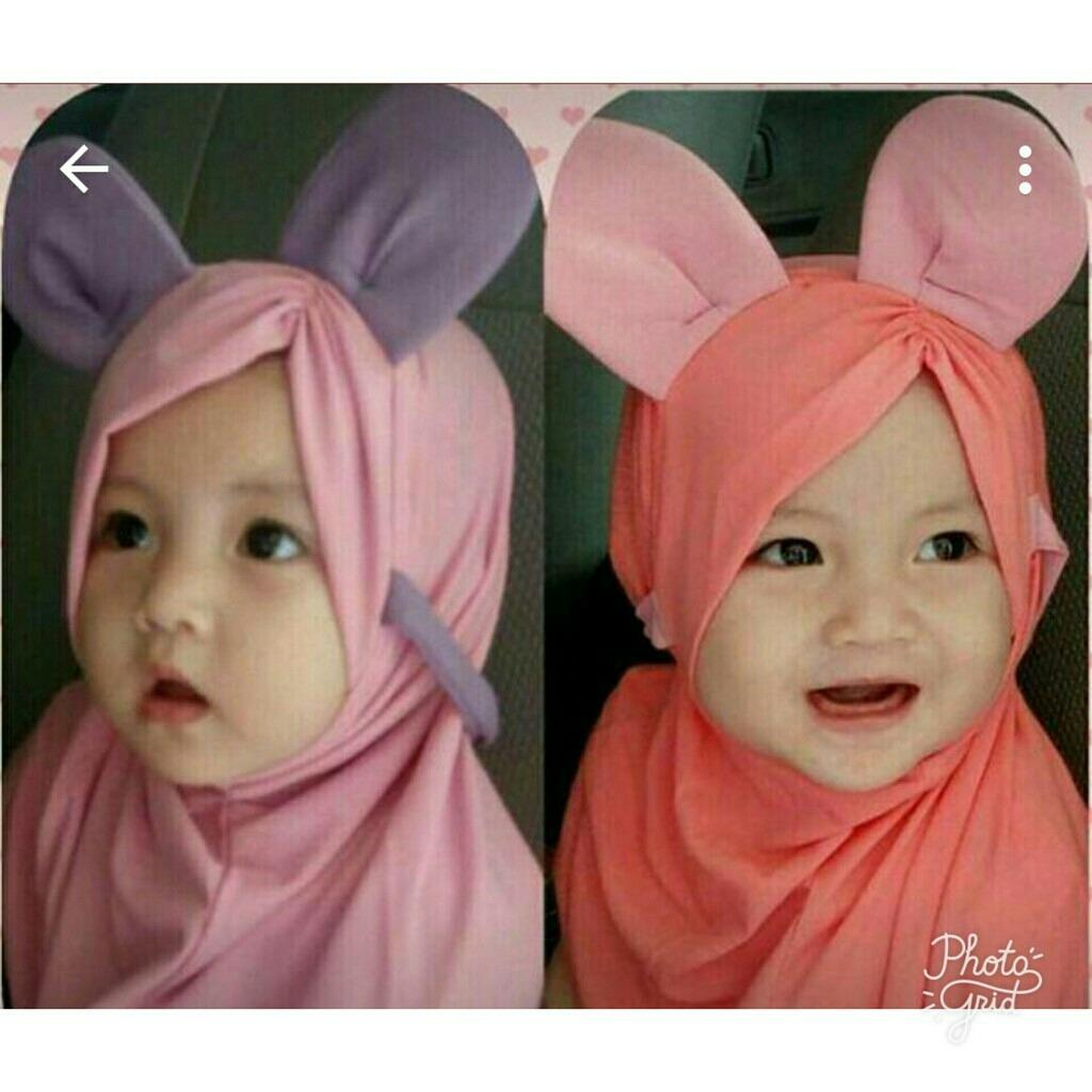 Hemat Kerudung Anak Bayi Miki Poni Jilbab Anak Bayi Jilbab Bayi