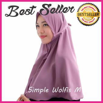 Kerudung Hijab Jilbab Instant Simple Syari Khimar Instan Wolfis Wolvis Wolpeach NAVY