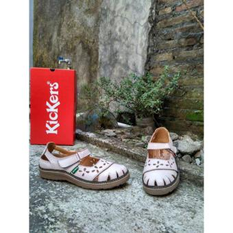 Kickers Sepatu Sandal Women White Point Leather
