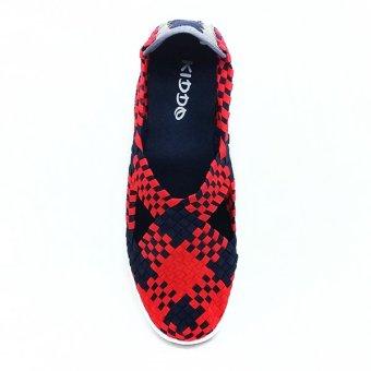 Kiddo Sepatu Rajut Karet H522 - Maroon - 3
