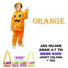 Kido Jas Hujan Anak Motif Gambar Lucu - Orange