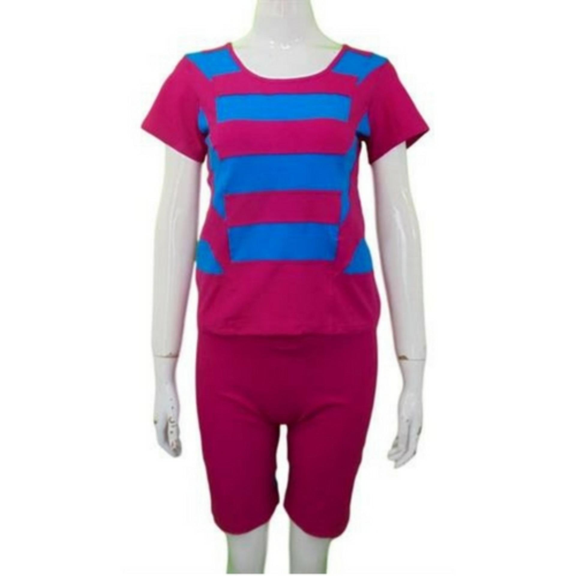 Kira Baju Olahraga Wanita / Baju Senam Wanita SY504-Pnk, XL .