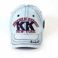 KK denim untuk pria dan wanita topi baseball visor topi bisbol topi topi (Dapat disesuaikan