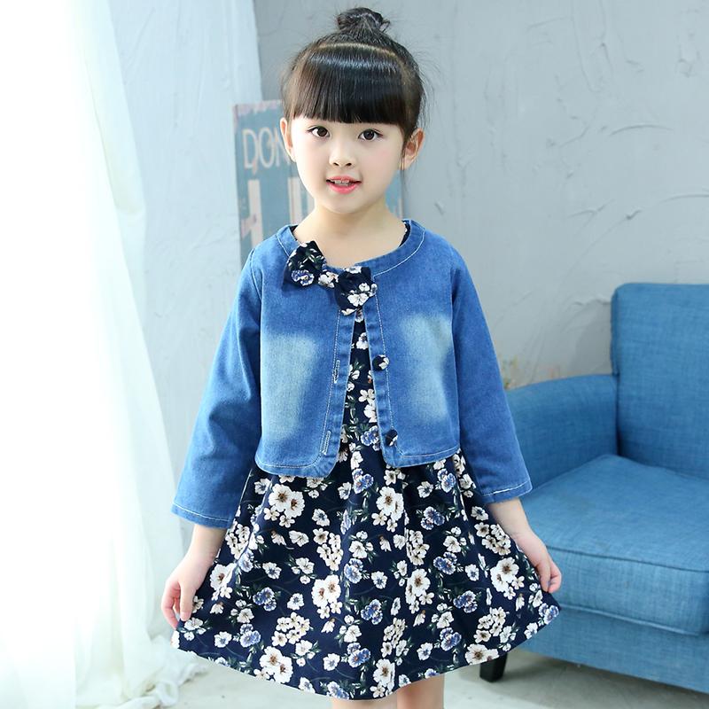 Korea Fashion Style Anak-anak Musim Semi Dan Musim Gugur Rok Rok Tali (Kecil