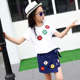 Jual Korea Fashion Style Baru Lengan Pendek Gadis Celana Pendek Putih Di Busana