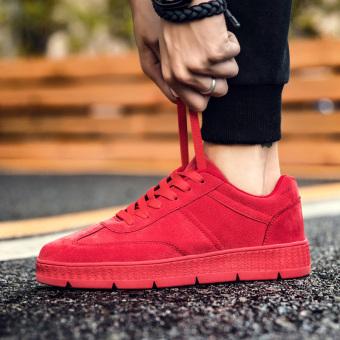 Beli Korea Fashion Style baru musim gugur pria laki-laki sepatu kebugaran sepatu kasual (Merah) Murah