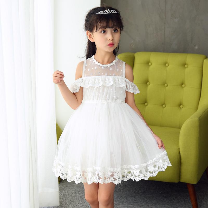 Flash Sale Korea Fashion Style baru renda renda kerah anak gaun putri gadis .