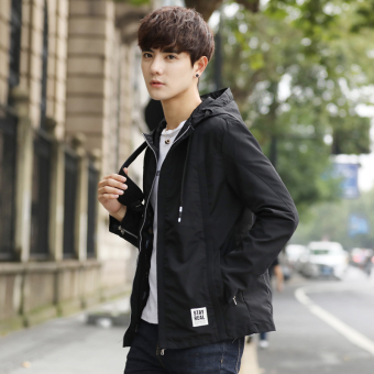 Jual Korea Fashion Style Bisbol Seragam Slim Tampan Jaket Jaket Pria Hitam Di