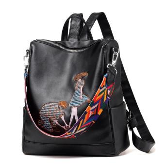 Korea Fashion Style bordir perempuan perjalanan tas Shishang tas bahu Sebuah gaya untuk mengirim sachet