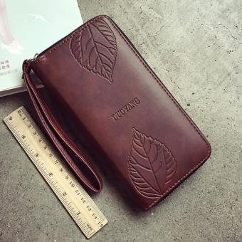 Korea Fashion Style dompet wanita ritsleting dompet wanita dompet (Coklat muda)