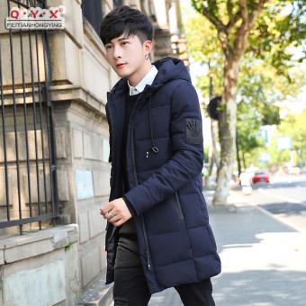 Harga Terendah Korea Fashion Style laki-laki dan bagian panjang Slim berkerudung empuk mantel musim