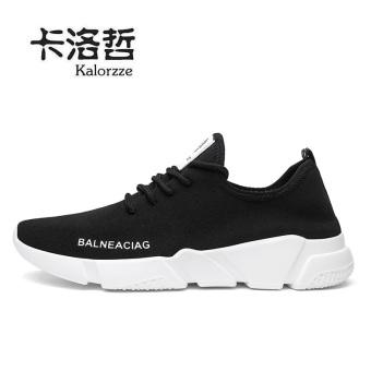 Harga Korea Fashion Style laki-laki jala sepatu sepatu pria (Model  laki-laki + Hitam) Murah 36e99ef227