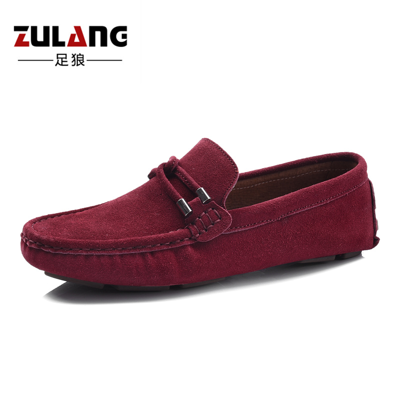 Flash Sale Korea Fashion Style laki-laki lulur kulit sepatu pria Peas sepatu  (Anggur merah) c7b21f7e87