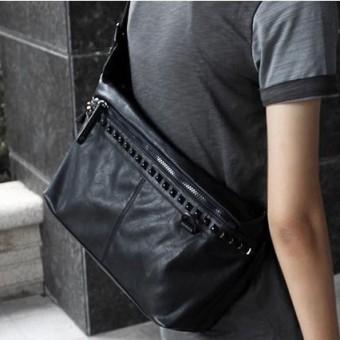 Korea Fashion Style Messenger Tren Tas Baru Tas Pack Dada (Hitam) (Hitam)