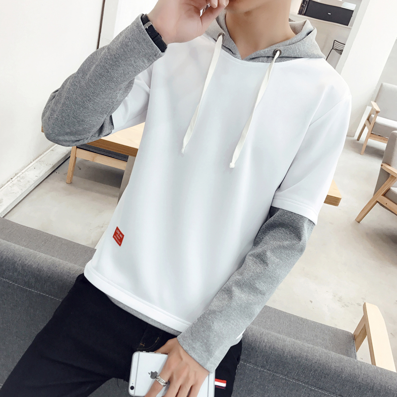 Flash Sale Korea Fashion Style model laki-laki berkerudung mahasiswa pullover hoodie beberapa sweater (