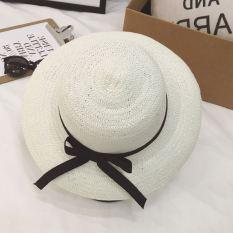 Korea Fashion Style ms. musim panas matahari UV matahari topi topi jerami (Kecil bertepi