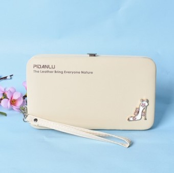 Korea Fashion Style multifungsi dompet dompet mahasiswa tas wanita wallet Off white