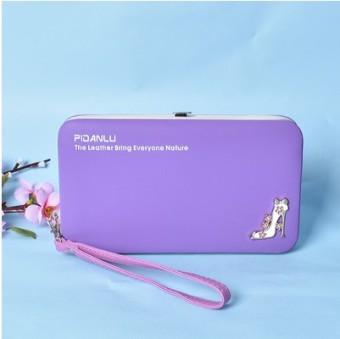 Korea Fashion Style multifungsi dompet dompet mahasiswa tas wanita wallet (Ungu)