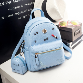 Korea Fashion Style Perempuan Baru Mini Tas Kecil Tas Ransel (Langit biru kecil)