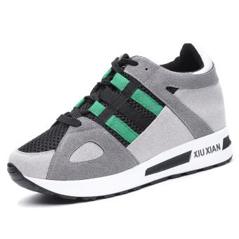 Beli Korea Fashion Style perempuan jala bernapas sepatu lari sepatu sneaker  (Model perempuan + 8569 hijau) Online d8040f5880