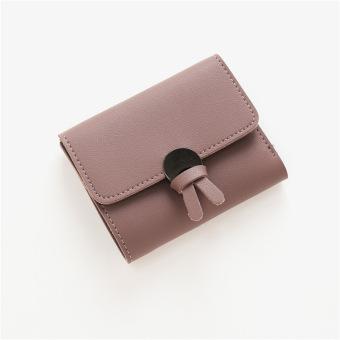 Korea Fashion Style perempuan Mahasiswa dua kali lipat nol dompet dompet kecil (Ungu)