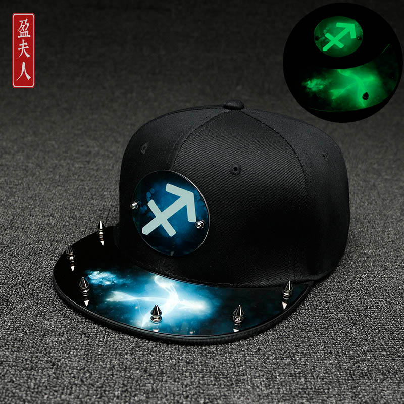 Korea Fashion Style perempuan mahasiswa neon bisbol topi topi (Sagitarius)