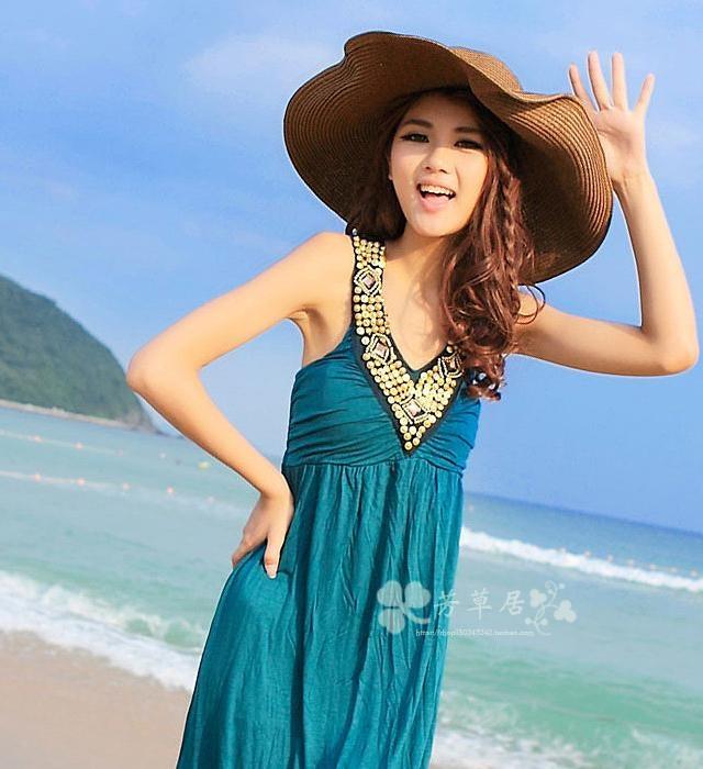 Korea Fashion Style perempuan pantai topi besar topi matahari topi visor  topi (Besar penuh topi be8b1c5338