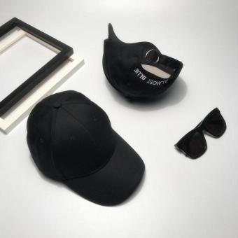 Harga Saya Korea Fashion Style Perempuan Surat Bordir Cinta Gesper Topi Baseball Topi (Hitam)
