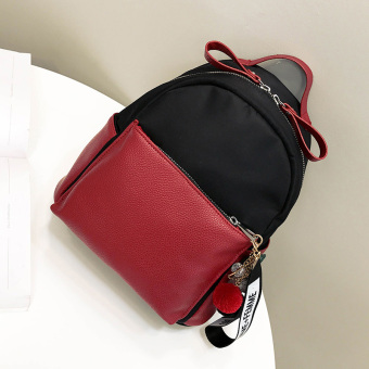Korea Fashion Style perempuan warna hit mini kecil tas Oxford tas bahu kain (Merah)