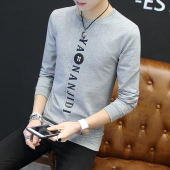 Jual Korea Fashion Style Pria Lengan Panjang T Shirt Baru