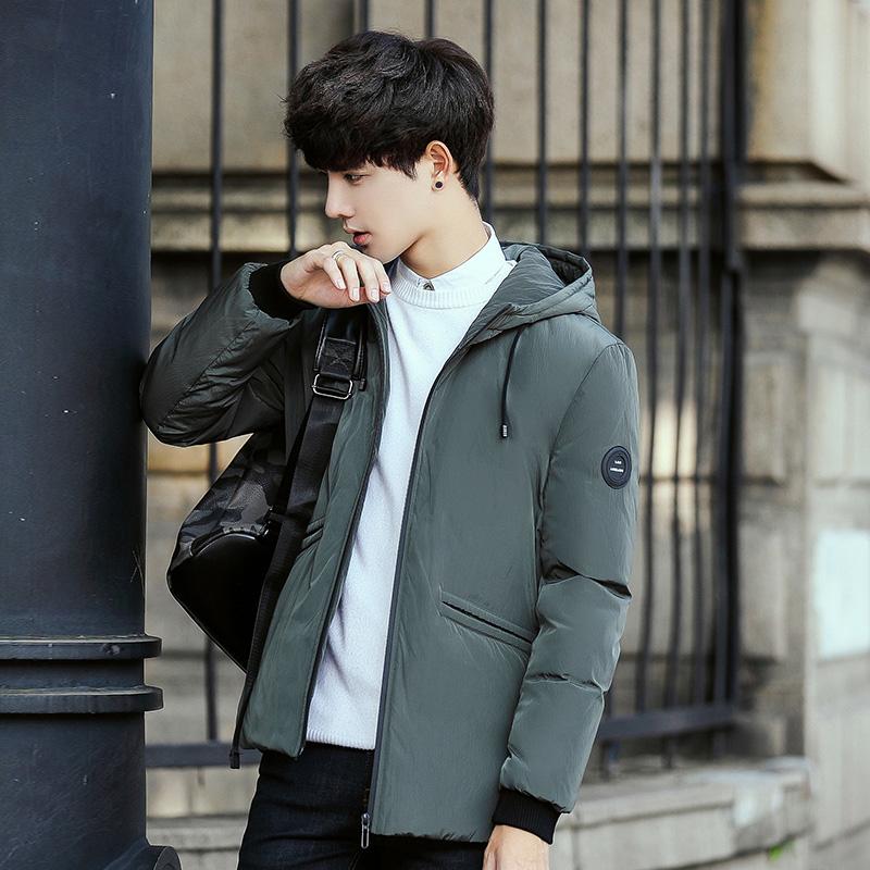 Flash Sale Korea Fashion Style pria musim dingin baru pria jaket mantel ( 7808 hijau gelap