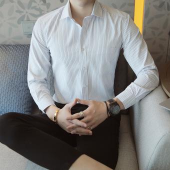 Jual Korea Fashion Style Pria Musim Gugur Baru Kasual Kemeja Lengan Panjang Baju Kemeja K08 6