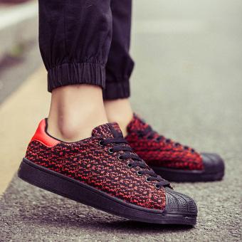 Korea Fashion Style pria sepatu pria sepatu sepatu (Merah)