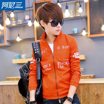 Jual Korea Fashion Style Remaja Laki Laki Dan Musim Gugur Jaket Oranye Di
