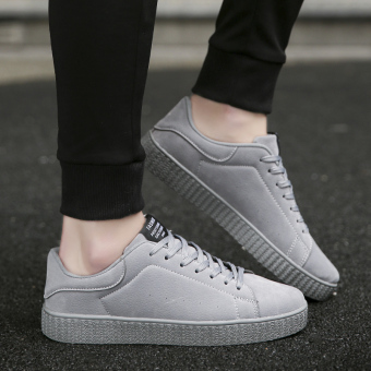 Harga Korea Fashion Style remaja suede siswa pasang sepatu sepatu kebugaran sepatu kasual (Model laki