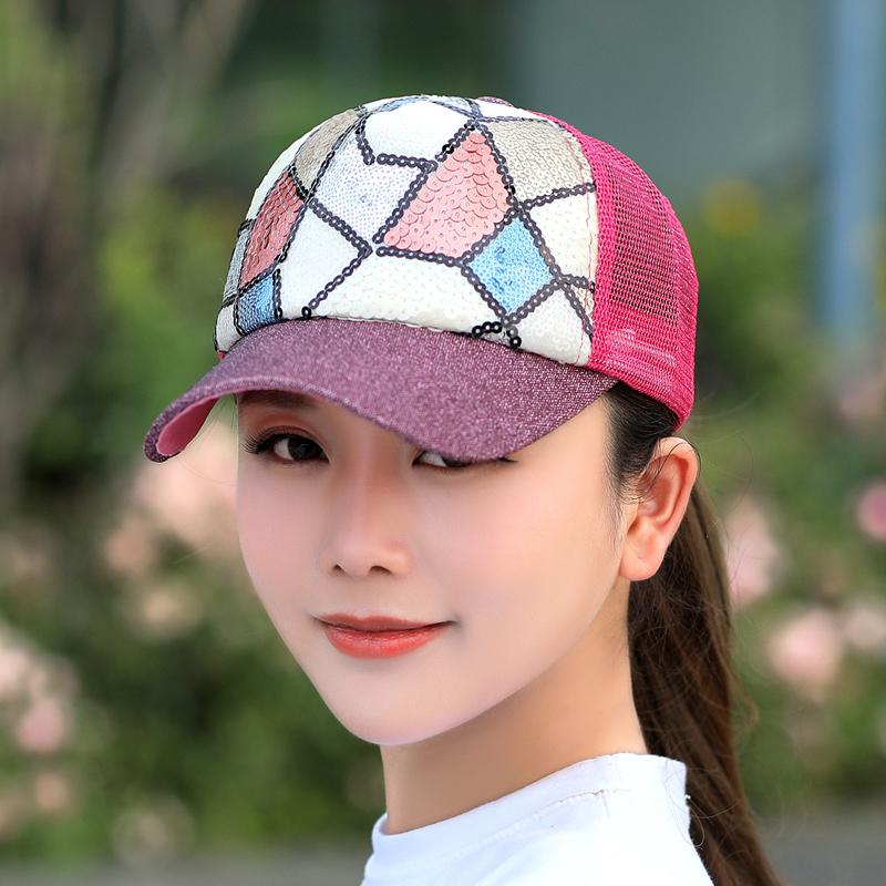 Cheap online Korea Fashion Style siswa musim panas perempuan matahari topi topi topi (Mawar merah (untuk mengirim kacamata hitam))