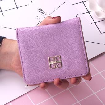 Korea Fashion Style siswa perempuan Mini dompet kecil wallet (Ungu muda)