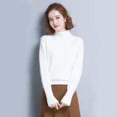 ... Tank Top Yang Bisa Dipadukan Wanita Seksi (Vest Halter. Source · Korea Fashion Style Slim Kerah Tinggi Motif Baut Sweter (Putih)