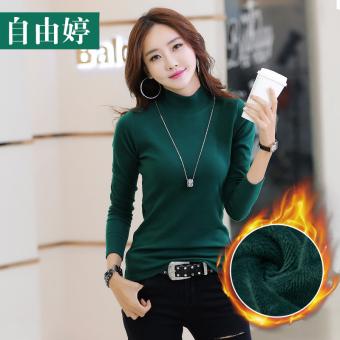 Perbandingan harga Korea Fashion Style Tambah Beludru Kerah Setengah Tinggi Perempuan Baju Musim Gugur Lebih Tebal