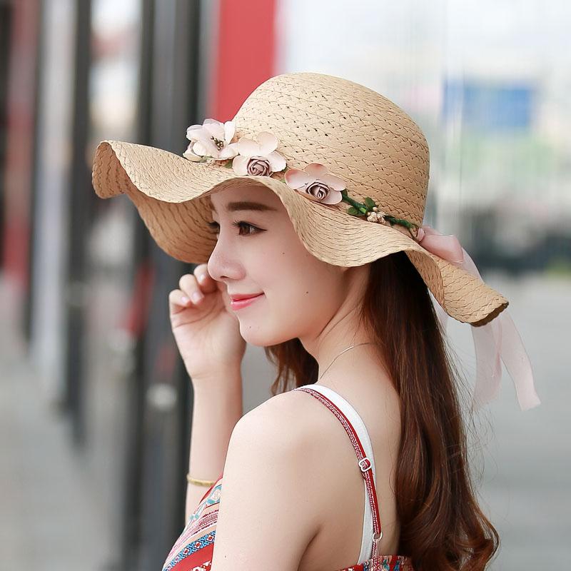 Flash Sale Korea Fashion Style wanita musim panas matahari topi topi topi  jerami (Topi jerami 0bc879ddd3
