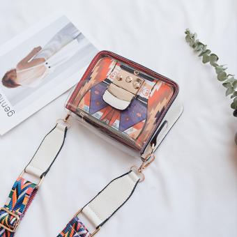 Korea transparan lebar tali bahu tas tas jelly tas tas (Putih)