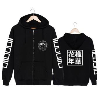 Korea Fashion KPOP BTS Bangtan Boys Young Forever Album Cotton Hooded Sweatshirts K-POP Zip