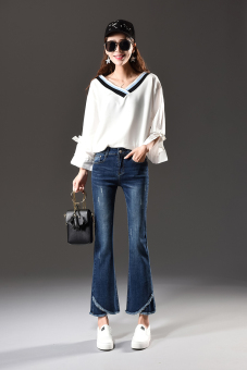 Harga Saya Korean-style female autumn New style ankle-length pants boot-cut