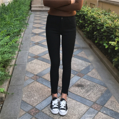 Korean-style female stretch Slim fit pencil ankle-length pants autumn New style denim