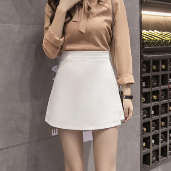 Korean-style Female Summer New style skirt culottes (Putih)