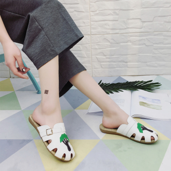 Korean-style Female Summer slip slippers (Putih)
