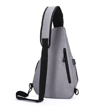 Korean Style Premium Shoulder Bag With External USB Port Phone Charger Travel Holder (Black) - intl - 3