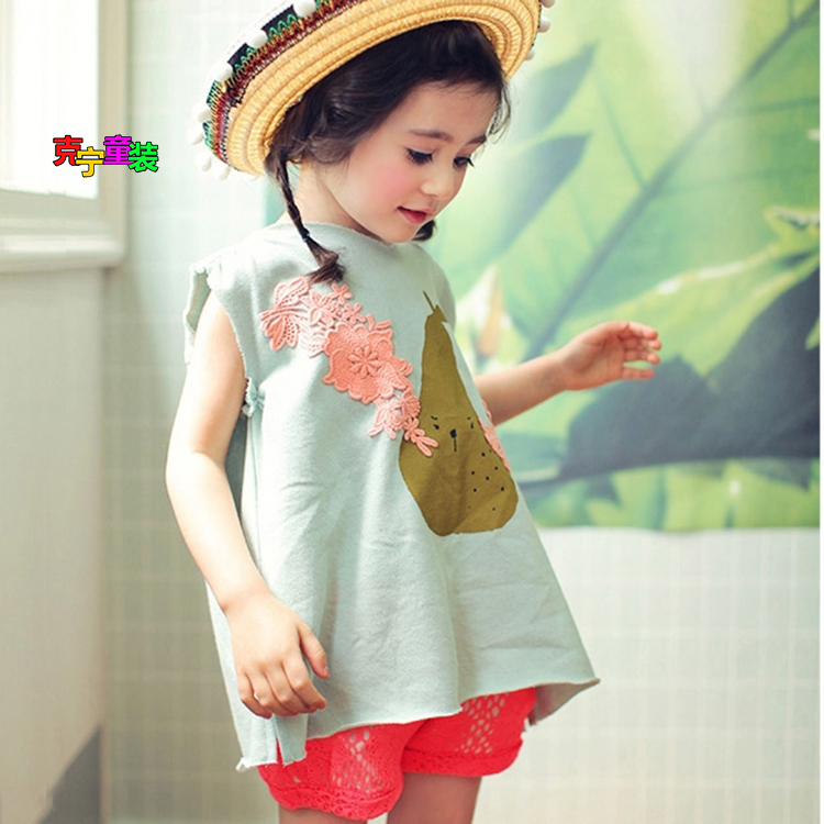 Casual Top Girls Short Source · New style summer cotton short sleeved Source .