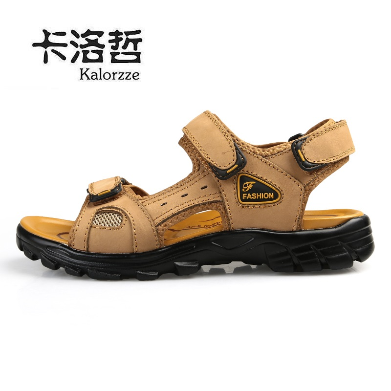Cheap online Kulit musim panas baru pria sandal kulit pria sandal Model laki  . 705dde417d